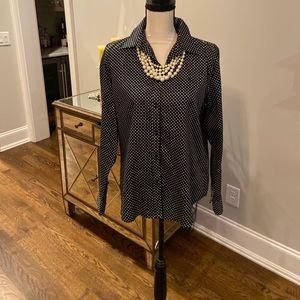Ralph Lauren  Polka Dot Shirt-Size Large